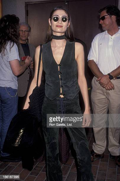 Actress Charlotte Lewis attends 10th Annual MTV Video Music Awards on September 23 1993 at the Universal Ampitheater in Universal City California