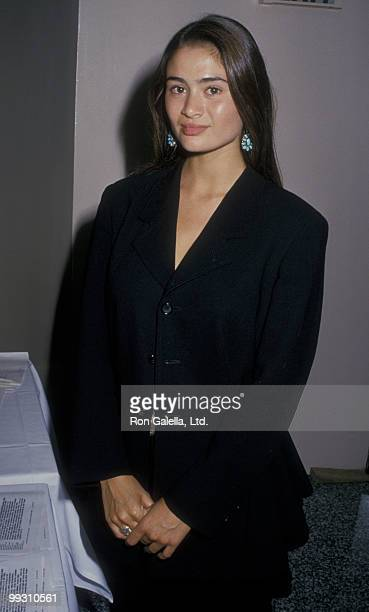 Actress Charlotte Lewis attends El Rescate Benefit on July 22 1988 at Palette Restaurant in Los Angeles California