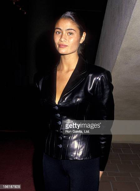 Actress Charlotte Lewis attends the premiere of 'Dancers' on October 7 1987 at the AMC 14 Theater in Century City California