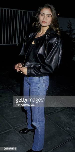 Actress Charlotte Lewis attends the premiere of 'Shoot To Kill' on February 4 1988 at Mann Village Theater in Westwood California
