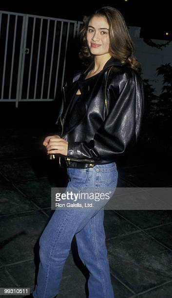 Actress Charlotte Lewis attends the premiere of Shoot To Kill on February 4 1988 at Mann Village Theater in Westwood California