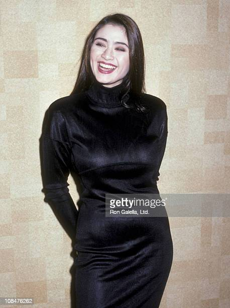 Actress Charlotte Lewis attends the premiere of The Golden Child on December 11 1986 at the Loew's Astor Plaza Theater in New York City