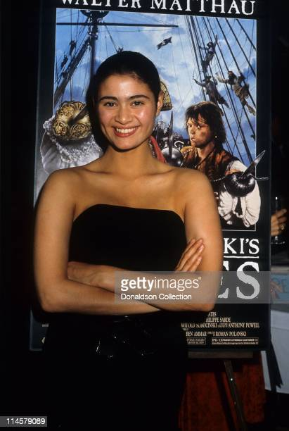 Actress Charlotte Lewis poses for a portrait in 1986 in Los Angeles California