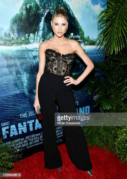 Actress Charlotte McKinney attends the premiere of Columbia Pictures' Blumhouse's Fantasy Island at AMC Century City 15 on February 11 2020 in...