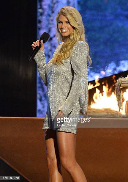 Actress Charlotte McKinney speaks onstage during Spike TV's Guys Choice 2015 at Sony Pictures Studios on June 6, 2015 in Culver City, California.