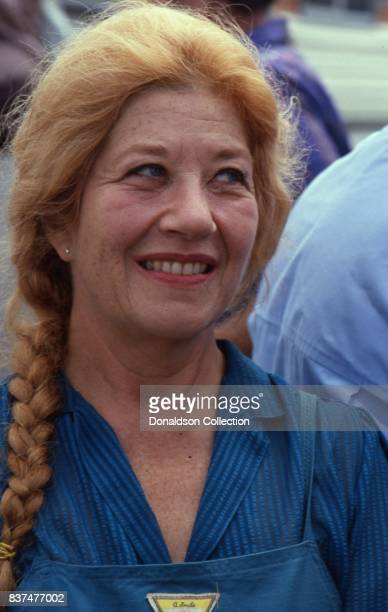 Actress Charlotte Rae attends SAG and AFTRA Actors On Strike in circa 1980 in Los Angeles California
