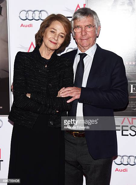 Actress Charlotte Rampling and actor Tom Courtenay arrive at the AFI FEST 2015 Presented by Audi Tribute to Charlotte Rampling and Tom Courtenay...