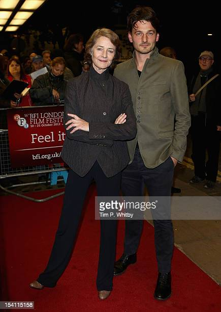 Actress Charlotte Rampling and director Barnaby Southcombe attend the 'I Anna' premiere during the 56th BFI London Film Festival at the Curzon Cinema...