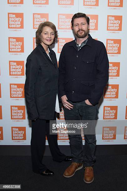 Actress Charlotte Rampling and Film Director Andrew Haigh attend the 45 Years New York screening and QA at The Film Society of Lincoln Center Walter...