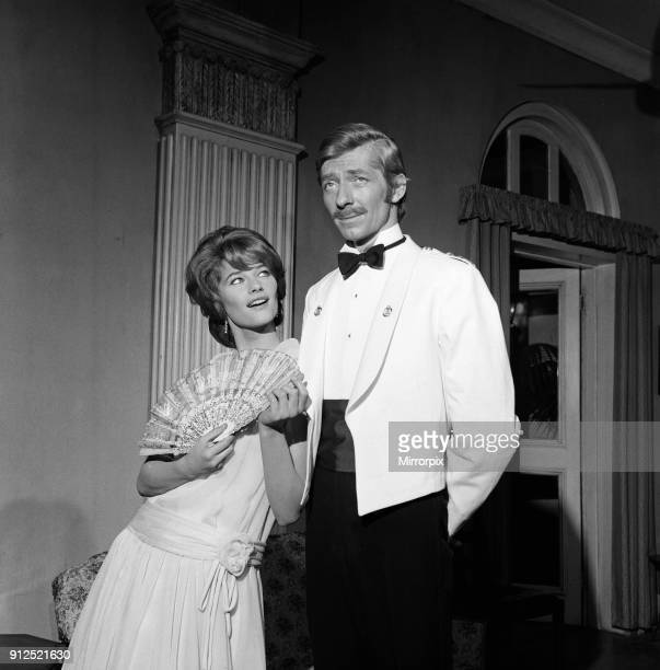 Actress Charlotte Rampling and her fiance Jeremy Lloyd on the set of 'The Long Duel' at Pinewood Studios 3rd January 1967 Actress Charlotte Rampling...