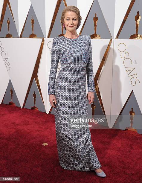 Actress Charlotte Rampling arrives at the 88th Annual Academy Awards at Hollywood Highland Center on February 28 2016 in Hollywood California