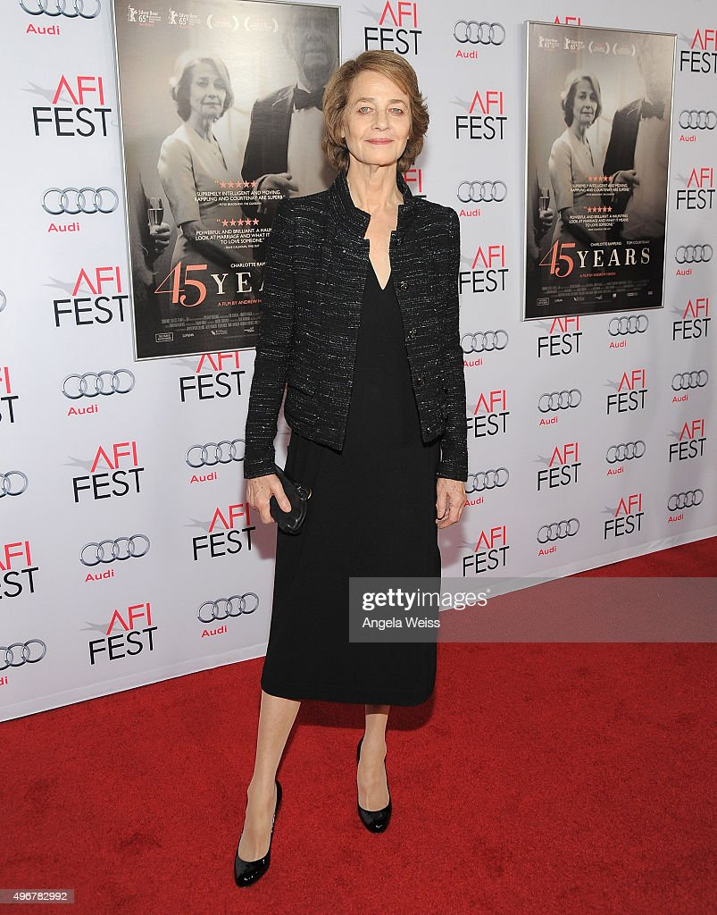 AFI FEST 2015 Presented By Audi Tribute To Charlotte Rampling & Tom Courtenay - Red Carpet