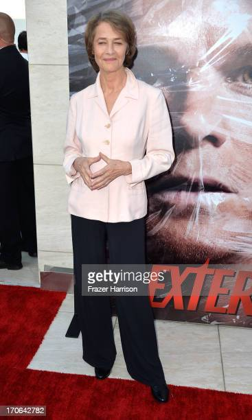Actress Charlotte Rampling arrives at the Showtime Celebrates 8 Seasons Of 'Dexter' at Milk Studios on June 15 2013 in Hollywood California