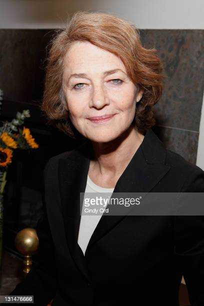 "Actress Charlotte Rampling attends a screening of ""Charlotte Rampling: The Look"" at a Private Residence on November 4, 2011 in New York City."