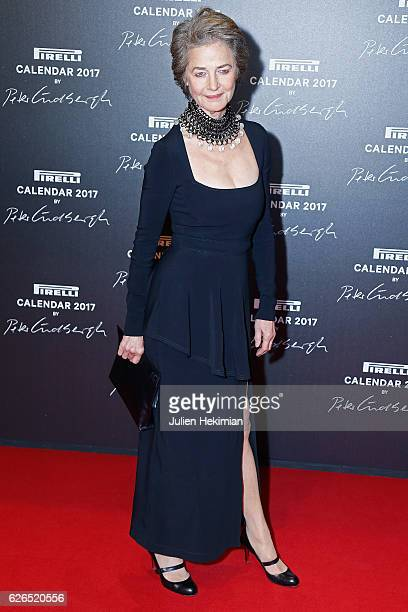Actress Charlotte Rampling attends Pirelli Calendar 2017 by Peter Lindberg Photocall at La Cite Du Cinema on November 29 2016 in SaintDenis France