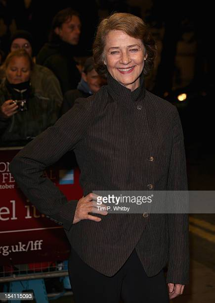 Actress Charlotte Rampling attends the I Anna premiere during the 56th BFI London Film Festival at the Curzon Cinema Mayfair on October 14 2012 in...