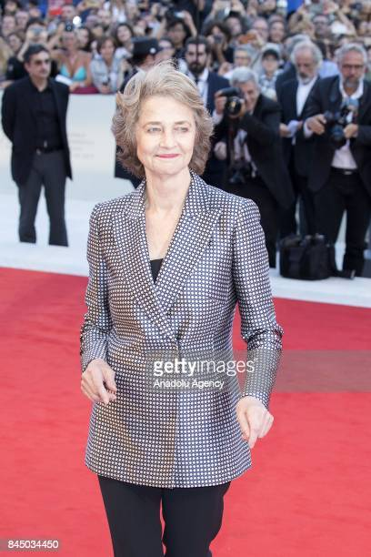 Actress Charlotte Rampling attends the red carpet of Closing Ceremony during Ceremony Awards of the 74th Venice International Film Festival at...
