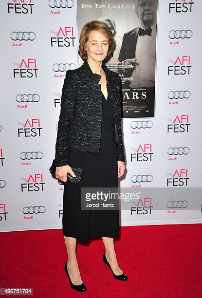 Actress Charlotte Rampling attends the Tribute to Charlotte Rampling and Tom Courtenay Screening of Sundance Selects' '45 Years' at the Hollywood...