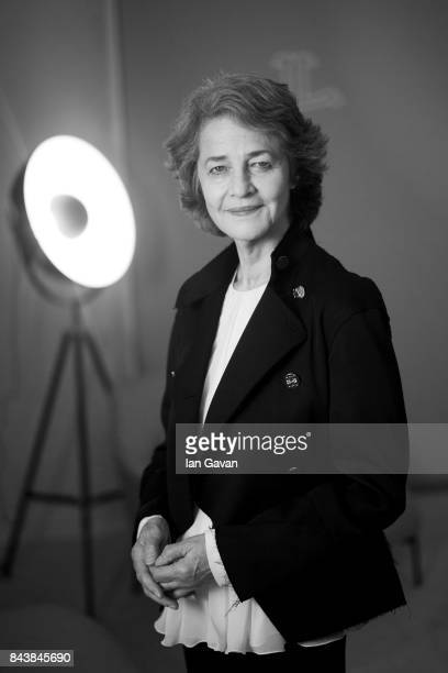 Actress Charlotte Rampling of 'Hannah' poses for a portrait during the 74th Venice Film Festival in the JaegerLeCoultre lounge at Hotel Excelsior on...