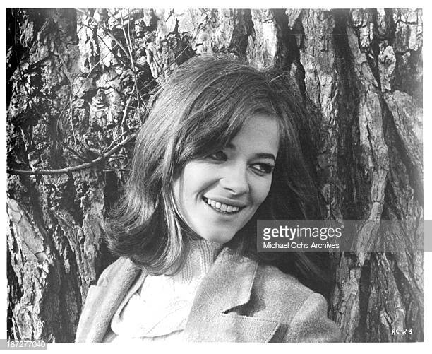 Actress Charlotte Rampling on set of the movie 'Rotten to the Core' in 1965