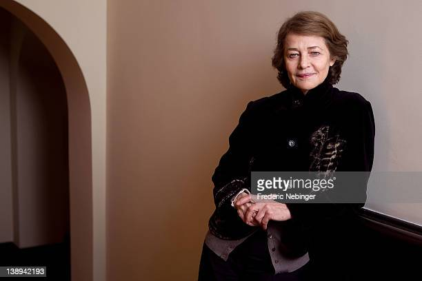 Actress Charlotte Rampling poses at the 'I Anna' Portrait Session during day six of the 62nd Berlin International Film Festival at the Moevenpick...