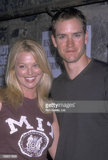 Actress Charlotte Ross and actor MarkPaul Gosselaar attend the Court TV Hosts the NYPD Blue Cast Party on August 9 2001 at Lansky Lounge Grill in New...
