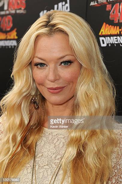 Actress Charlotte Ross arrives at Spy Kids All The Time In The World 4D Los Angeles premiere at the Regal Cinemas LA Live on July 31 2011 in Los...