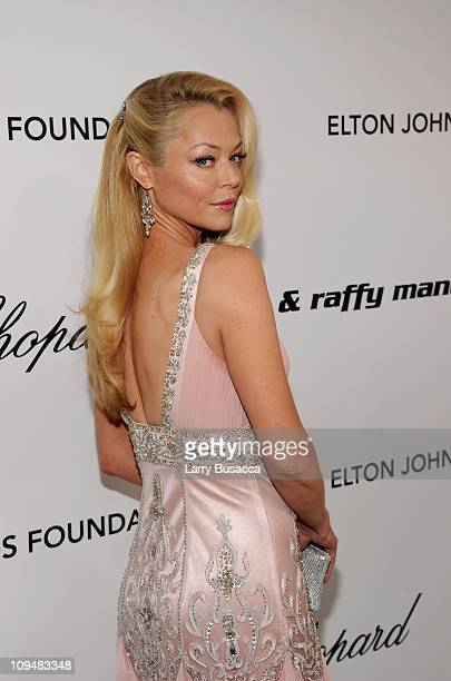 Actress Charlotte Ross arrives at the 19th Annual Elton John AIDS Foundation Academy Awards Viewing Party at the Pacific Design Center on February 27...