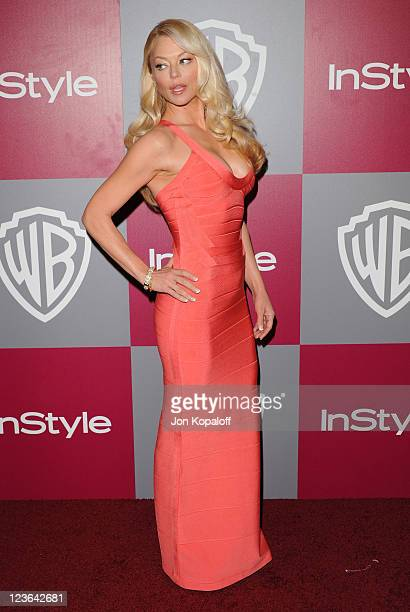 Actress Charlotte Ross arrives at the 2011 InStyle/Warner Brothers Golden Globes Party at The Beverly Hilton hotel on January 16 2011 in Beverly...