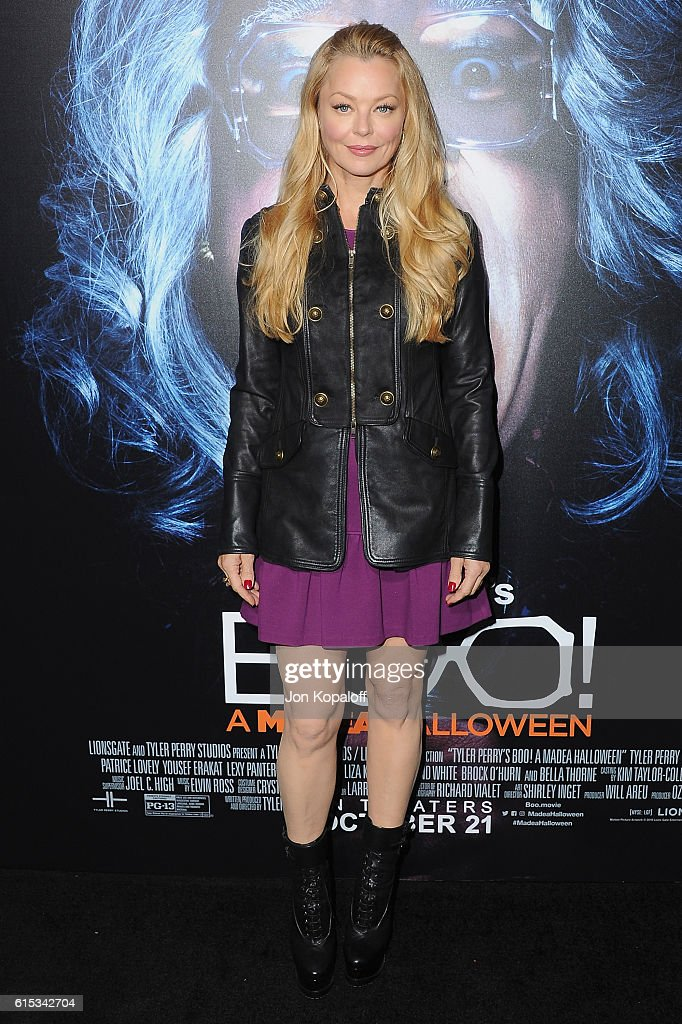 Actress Charlotte Ross arrives at the Los Angeles Premiere 'Boo! A Madea Halloween' at ArcLight Cinemas Cinerama Dome on October 17, 2016 in Hollywood, California.