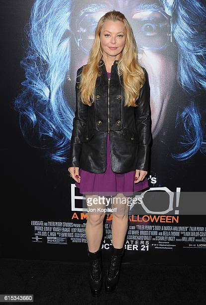 Actress Charlotte Ross arrives at the Los Angeles Premiere Boo A Madea Halloween at ArcLight Cinemas Cinerama Dome on October 17 2016 in Hollywood...