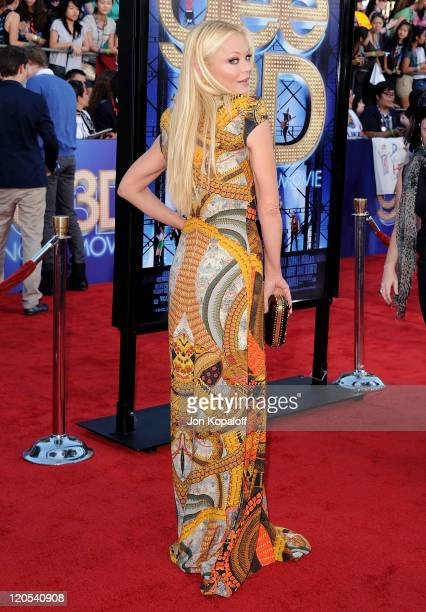 """Actress Charlotte Ross arrives at the Los Angeles Premiere """"GLEE: The 3D Concert Movie"""" at Regency Village Theatre on August 6, 2011 in Westwood,..."""