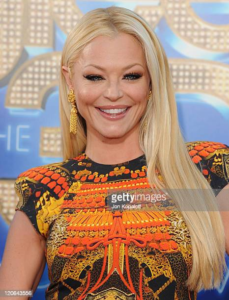 Actress Charlotte Ross arrives at the Los Angeles Premiere GLEE The 3D Concert Movie at Regency Village Theatre on August 6 2011 in Westwood...