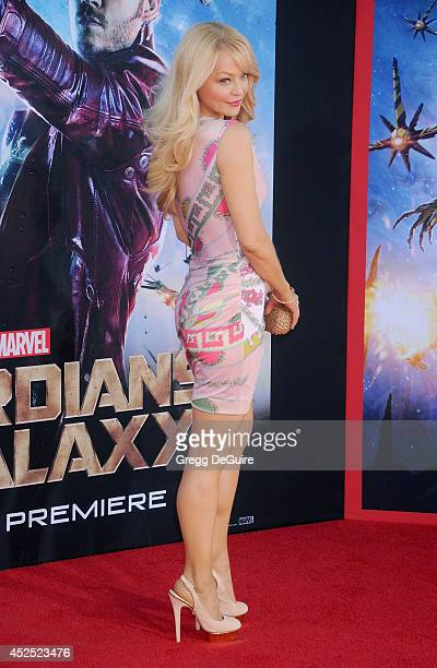 Actress Charlotte Ross arrives at the Los Angeles premiere of Marvel's 'Guardians Of The Galaxy' at the El Capitan Theatre on July 21 2014 in...