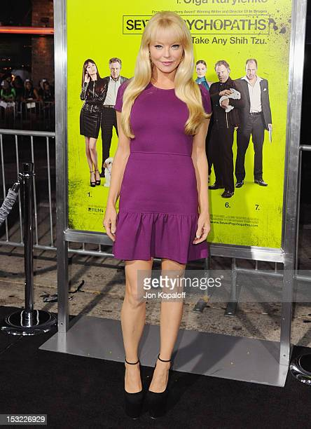 Actress Charlotte Ross arrives at the Los Angeles Premiere 'Seven Psychopaths' at Mann Bruin Theatre on October 1 2012 in Westwood California