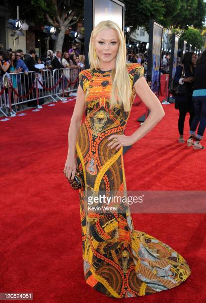 Actress Charlotte Ross arrives at the premiere of Twentieth Century Fox's Glee The 3D Concert Movie held at the Regency Village Theater on August 6...
