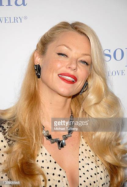 Actress Charlotte Ross arrives at the preview party for Lia Sophia's Ianaya II jewelry collection at the Sunset Tower Hotel on July 14 2010 in West...
