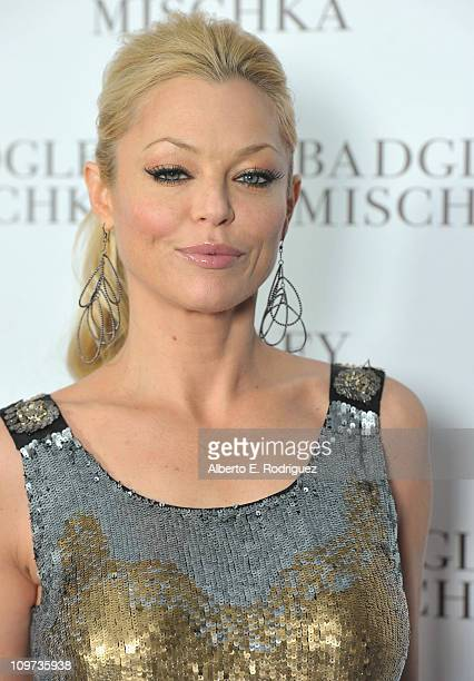 Actress Charlotte Ross arrives to the opening of the Badgley Mischka Flagship Store on Rodeo Drive on March 2 2011 in Beverly Hills California