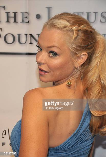 Actress Charlotte Ross attends Elevate Hope Foundation Presents An Evening With Angels Arrivals at Boulevard3 on July 25 2010 in Hollywood California