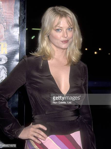 Actress Charlotte Ross attends the 3000 Miles to Graceland Hollywood Premiere on February 20 2001 at Mann's Chinese Theatre in Hollywood California