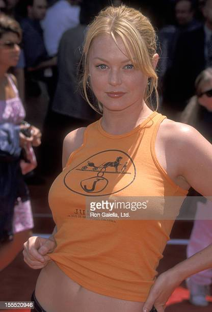 Actress Charlotte Ross attends The Princess Diaries Hollywood Premiere on July 29 2001 at El Capitan Theatre in Hollywood California