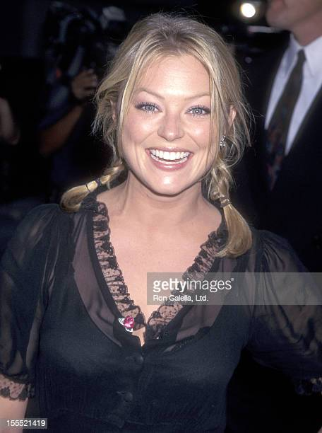 Actress Charlotte Ross attends the Spawn Hollywood Premiere on July 28 1997 at Mann's Chinese Theatre in Hollywood California