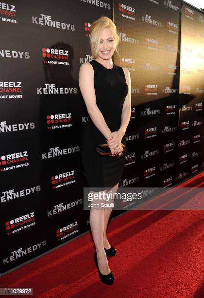 Actress Charlotte Sullivan arrives at The ReelzChannel World premiere of 'The Kennedys' at AMPAS Samuel Goldwyn Theater on March 28 2011 in Beverly...