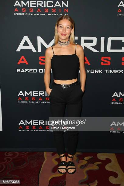 Actress Charlotte Vega attends a Screening of CBS Films and Lionsgate's 'American Assassin' at TCL Chinese Theatre on September 12 2017 in Hollywood...