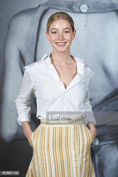 Actress Charlotte Vega attends 'LOEWE Past Present Future' exhibition at Jardin Botanico on November 17 2016 in Madrid Spain