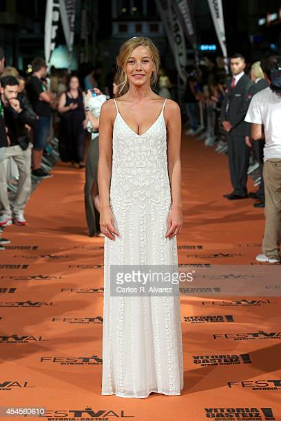 Actress Charlotte Vega attends the Refugiados premiere during the 6th FesTVal Television Festival 2014 day 3 at the Principal Theater on September 3...