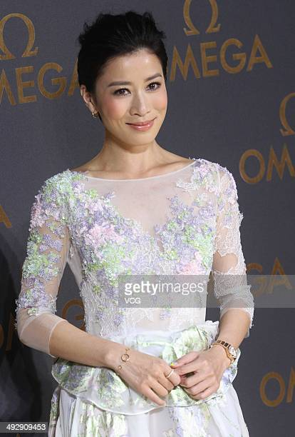 Actress Charmaine Sheh arrives for the red carpet of Omega Le Jardin Secret dinner party on May 16 2014 in Shanghai China