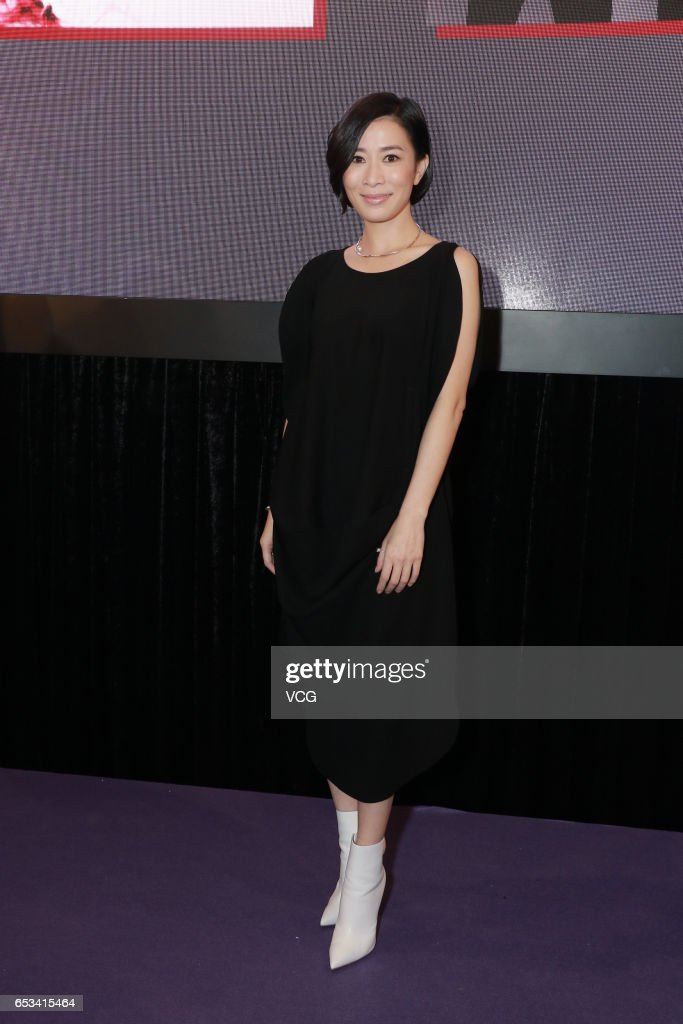 Actress Charmaine Sheh attends the press conference of China 3D Digital Entertainment Ltd during the 21st Hong Kong International Film & TV Market (FILMART) at Hong Kong Convention and Exhibition Centre on March 14, 2017 in Hong Kong, China.