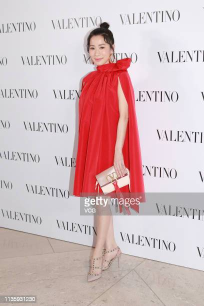 Actress Charmaine Sheh Szeman attends Valentino event on March 14 2019 in Hong Kong China