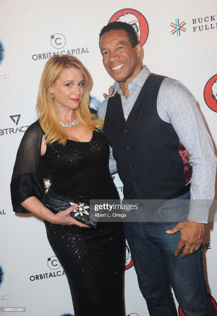 Actress Chase Masterson and acctor Rico E. Anderson attend Yuri's Night L.A. held on April 8, 2017 in Los Angeles, California.